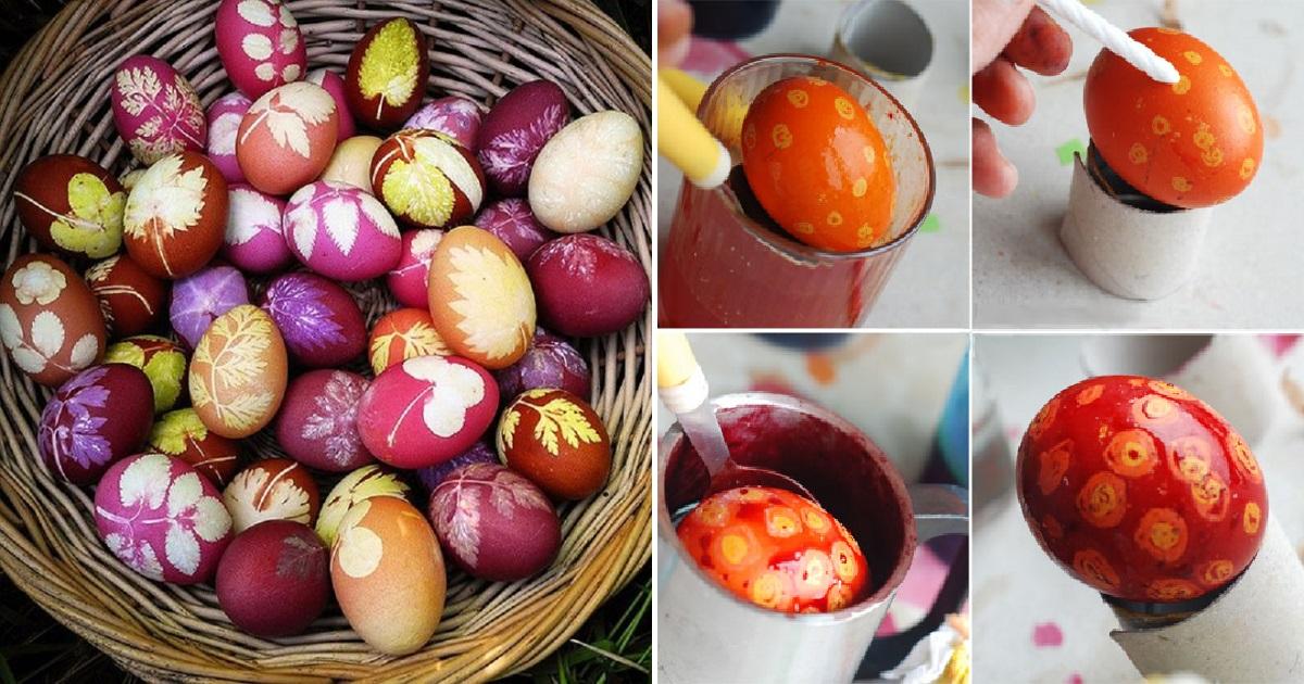 7 превосходных способов окрасить яйца: никаких кистей и наклеек