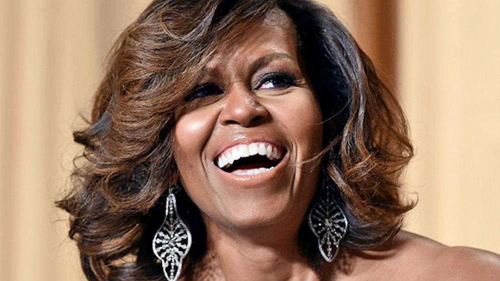 Выражение лица Мишель Обамы на инаугурации стало мемом