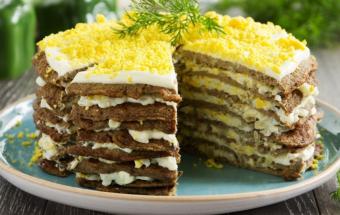 """Мясной торт """"Ряба"""""""
