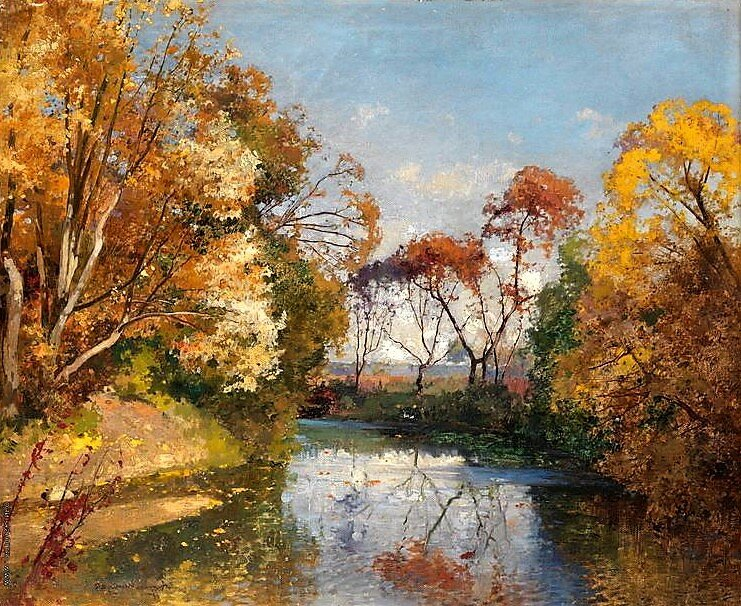 """Осенний пейзаж"", 1919, холст, масло"