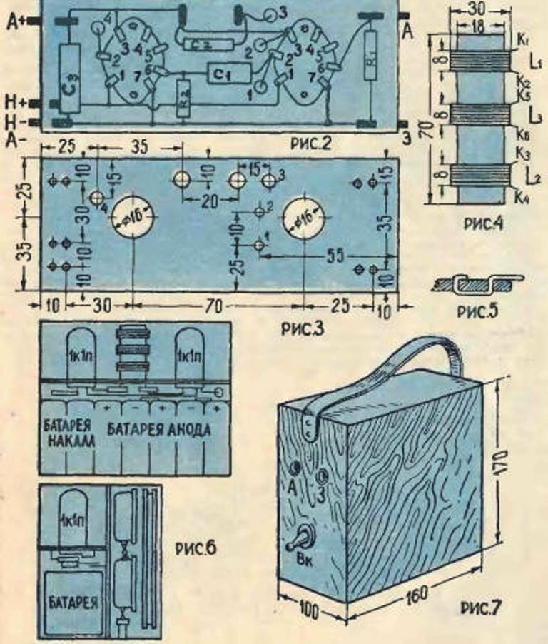 Простейший ламповый приемник приемник, радиолампы, своими руками, сделай сам