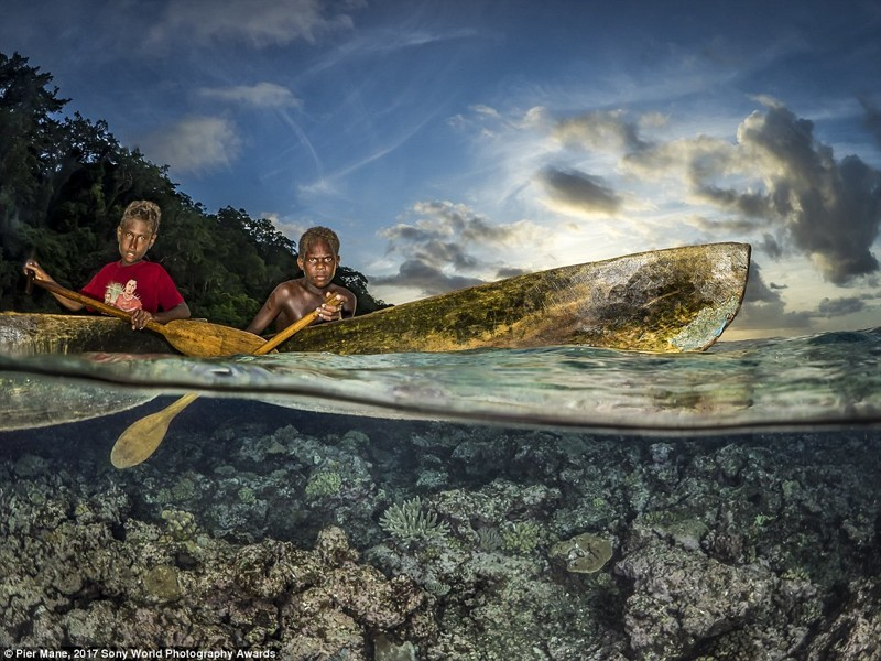 Мальчики из местного племени аборигенов, Соломоновы Острова в мире, дети, жизнь