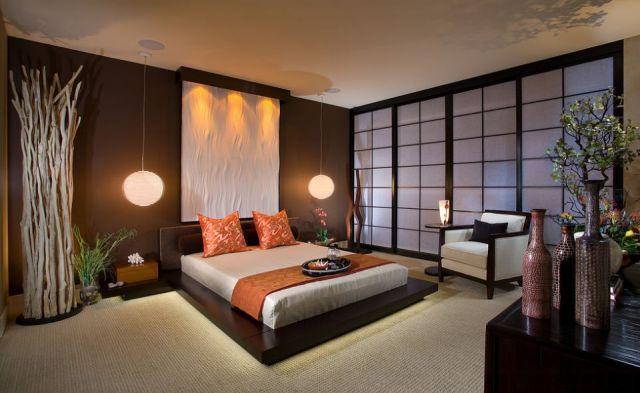 Спальня в японском стиле, хороший способ создать скромную и минималистическую аранжировку интерьер и дизайн,комфорт,спальня,японский стиль