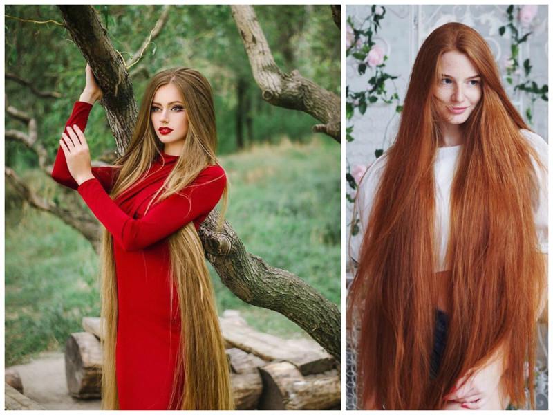 Телочка картинки девушек с очень длинными волосами