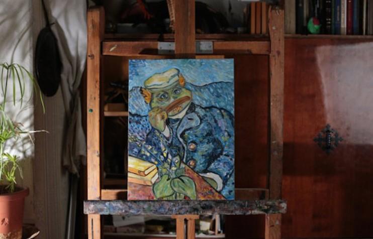 Художница из Петербурга сделала лягушонка Пепе героем классических картин