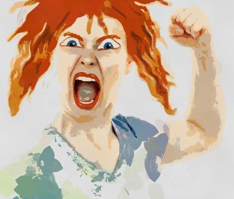 Весной, смешные картинки женщина злится