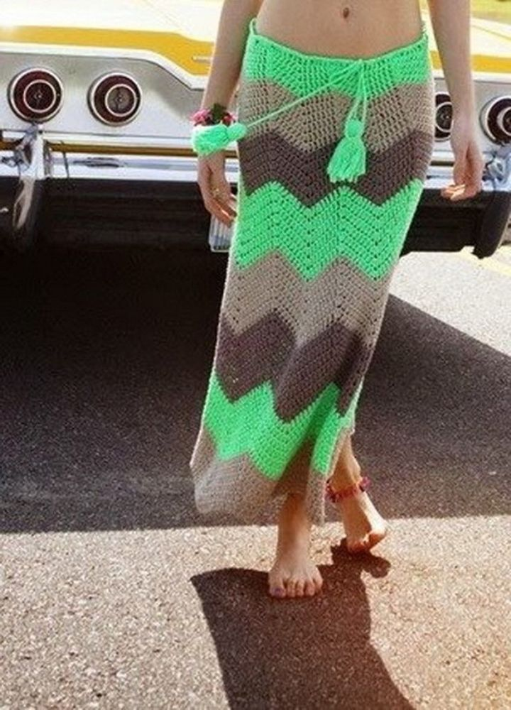 Вязаная юбка — юбка для смелых