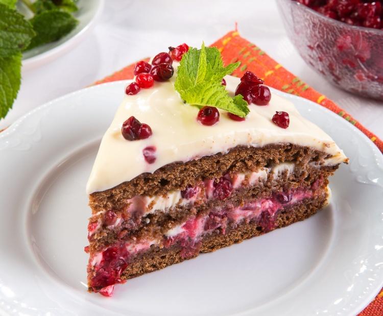 брусничный торт «рождество» / простые рецепты