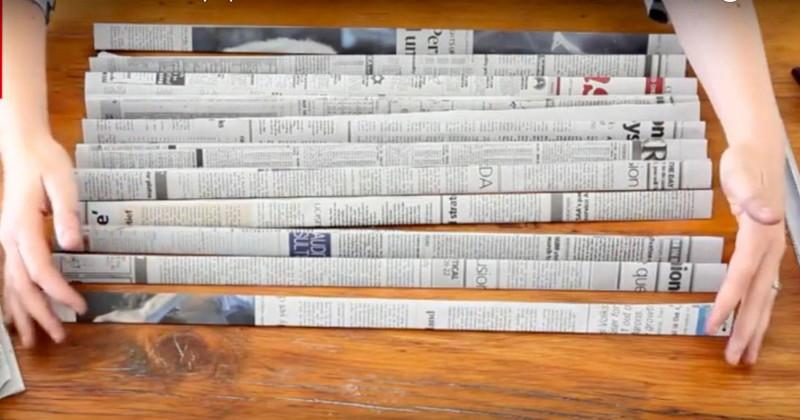 Она не выбрасывает газеты, а использует их с умом. Гениально! газета, крутые советы, переработка, полезные хитрости, фото, что можно сделать