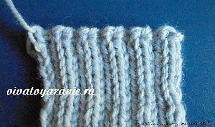 Эластичный способ закрытия петель вязание спицами,рукоделие,своими руками,сделай сам