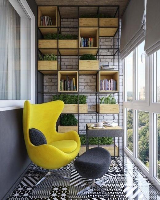 Красивый и практичный вариант балкона