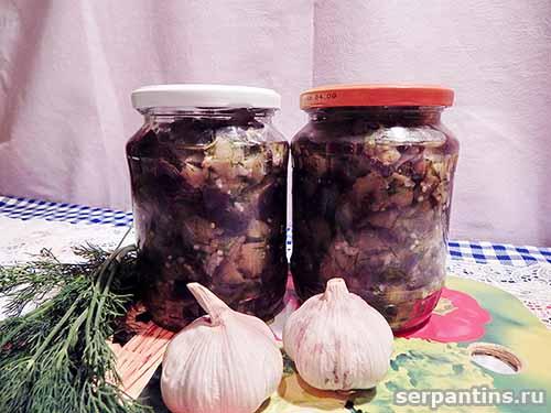 """Маринованные """"под грибы"""" баклажаны"""