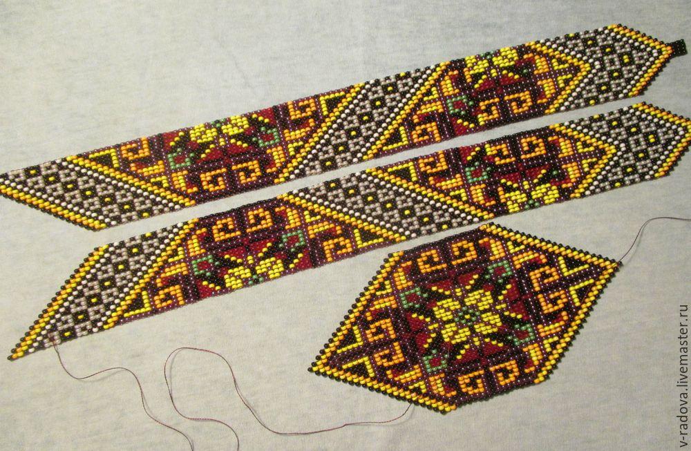 Бисерное ткачество: создаем красочный гердан бисер,мастер-класс,украшения