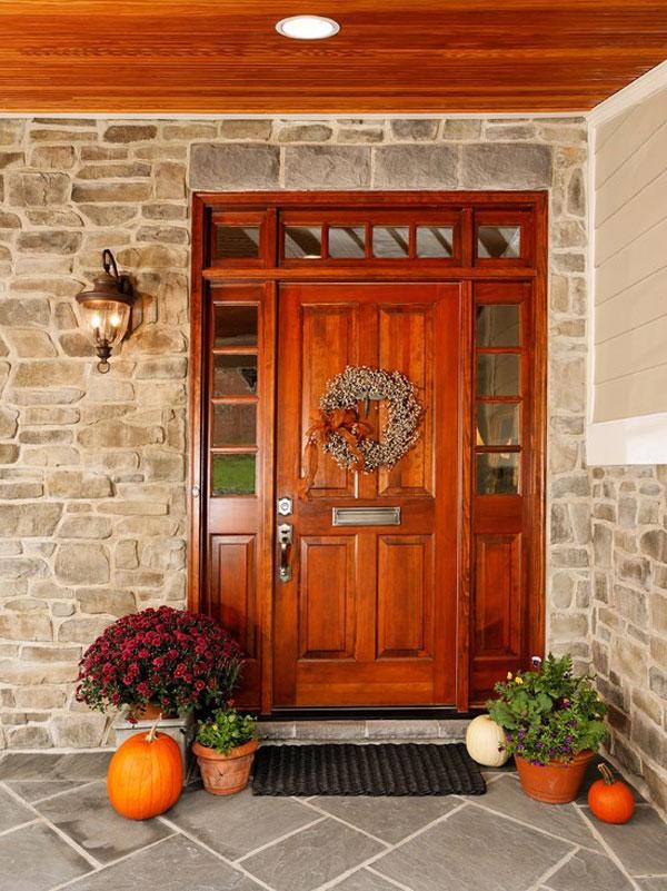 интересный вариант входной двери