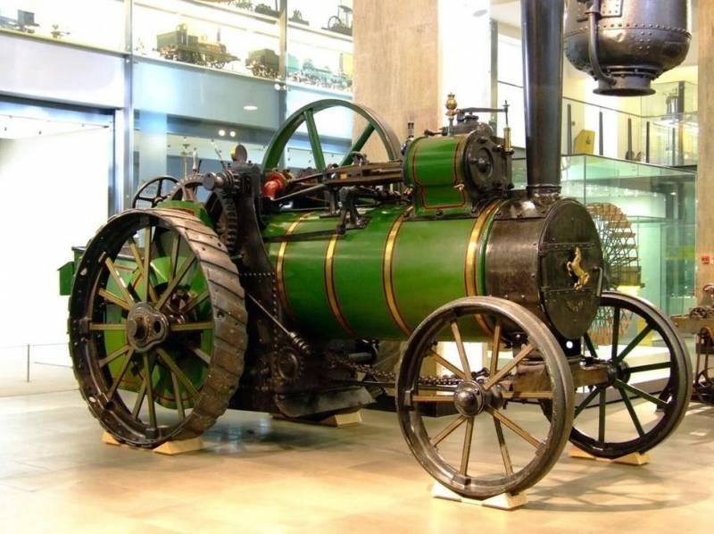 Паровой трактор и первое его применение в армии оружие
