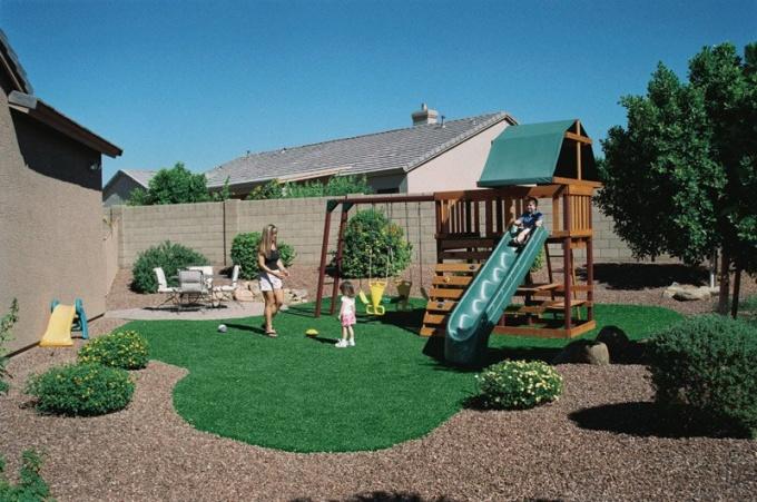 Как оформить детскую площадку на своей даче. Несколько секретов из личного опыта