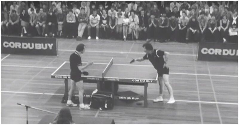 Один из самых веселых матчей в истории настольного тенниса