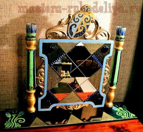 """Зеркало """"Египетское барокко"""". Мастер-класс по декорированию"""