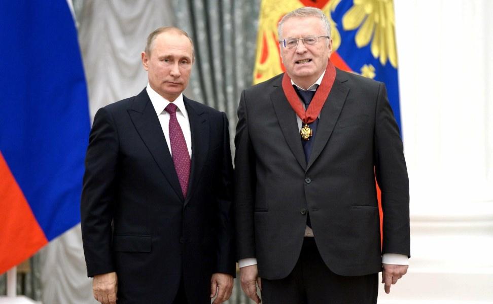 ВЦИОМ: 62,5% россиян доверяют Путину, а 31% – Жириновскому