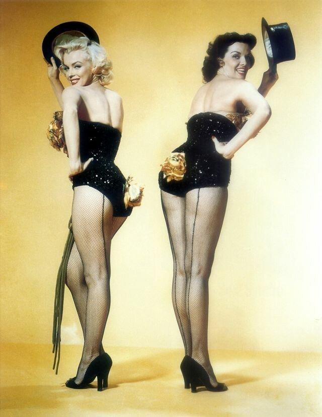 """Сногсшибательные фотографии со съемок фильма """"Джентльмены предпочитают блондинок"""""""