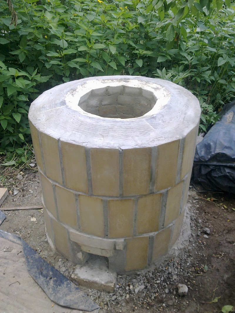 Тандыр из бетона своими руками