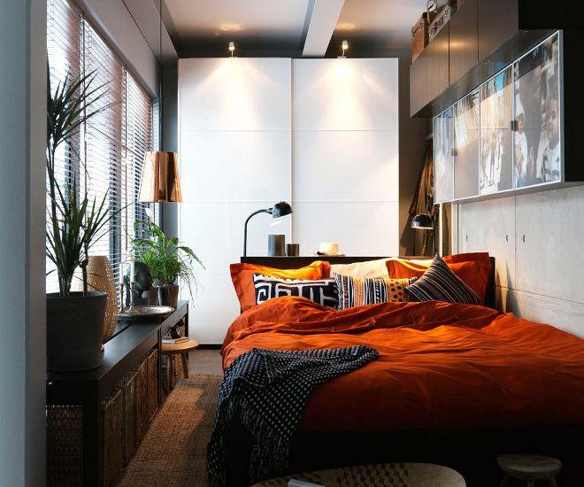 дизайн маленькой спальни оконный проем