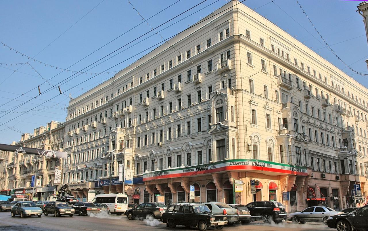Тверская улица и гостиница центральная в картинках