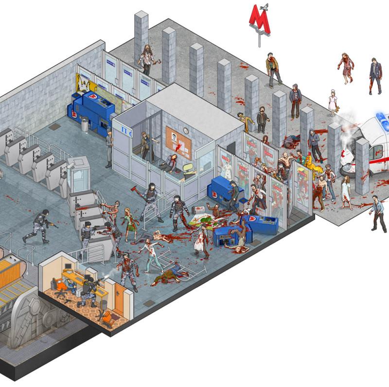 Они наступают: как выжить в московском метро во время зомби-апокалипсиса