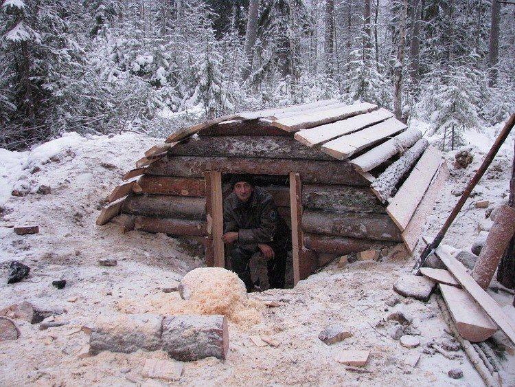 Постройка зимовья за 20 дней…