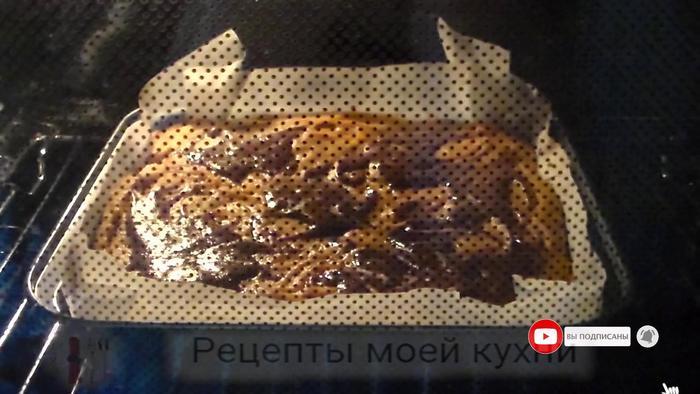Тыквенный брауни с шоколадом сладкая выпечка