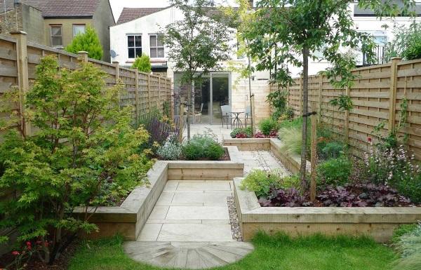 Идея для озеленения и благоустройства двора частного дома