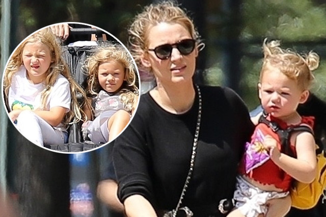 Блейк Лайвли с тремя дочерьми на прогулке в Нью-Йорке Звездные дети