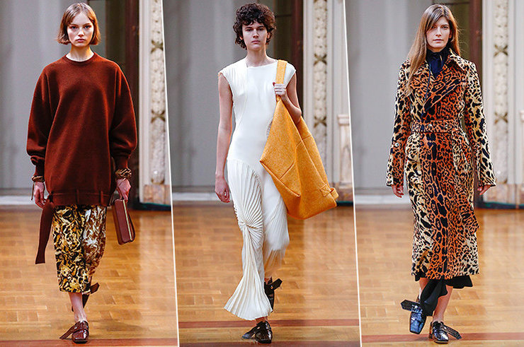 Новый показ Виктории Бекхэм: деловой стиль, крошечные каблуки и огромные сумки