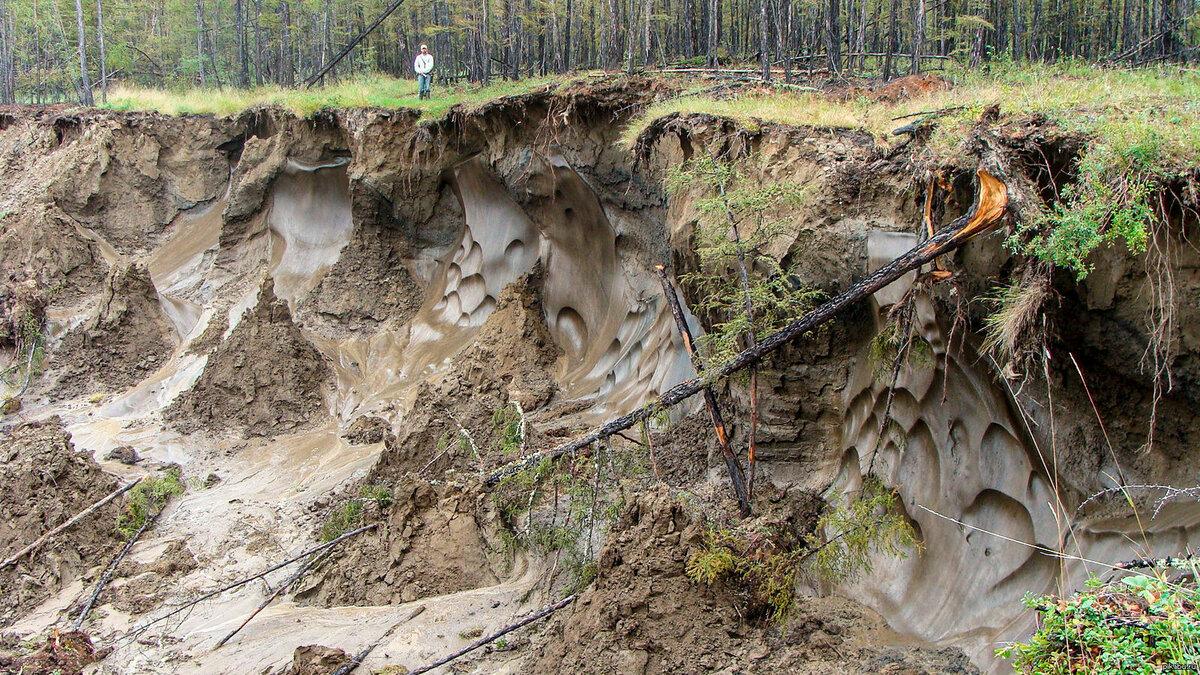 Что происходит, когда тает вечная мерзлота вечная мерзлота,интересное,Камчатка,природа,Россия,Сибирь,Якутия