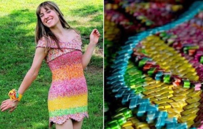Карамельное платье: 4 года работы и 10 тысяч фантиков