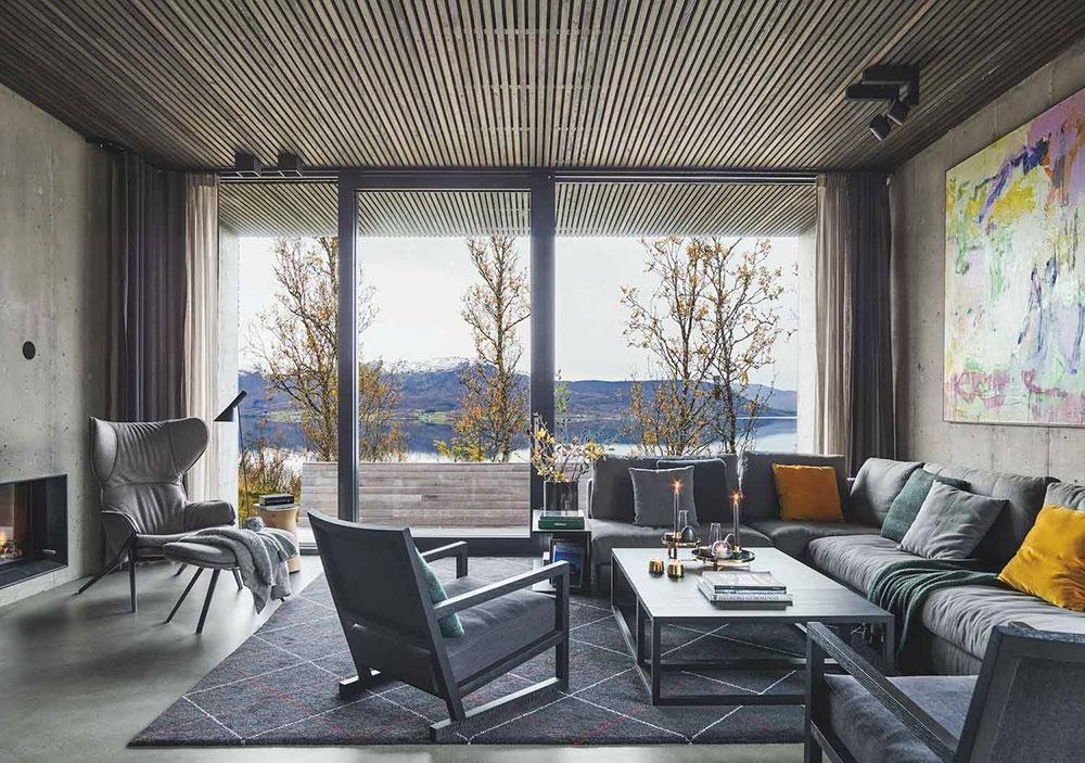 Жизнь с видом на фьорды: современный уютный дом в Норвегии деревянный дом