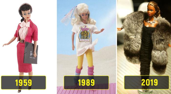 Барби празднует 60-летие: В честь кого назвали самую знаменитую куклу и как она выглядела в разные годы девушки