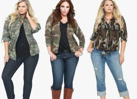 Женские джинсы больших размеров с высокой талией