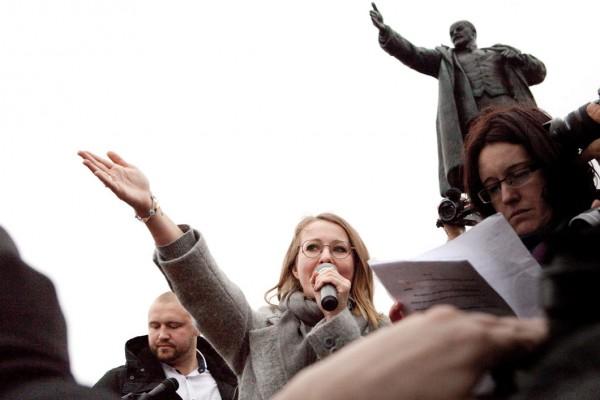Собчак освистали в Санкт-Петербурге