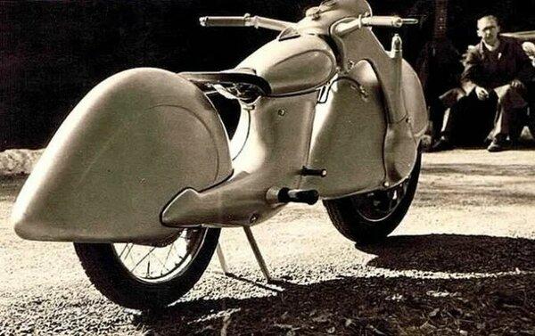 Уникальный переднеприводный мотоцикл «Голубь мира» мото