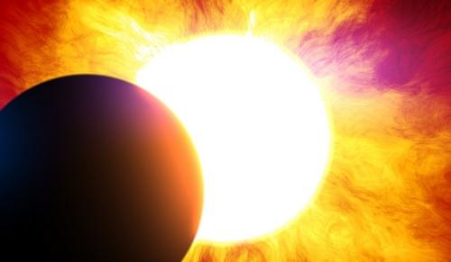вспышка на солнце затмение
