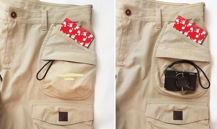 Готовые карманы на сшитых своими руками женских брюках, пример 8