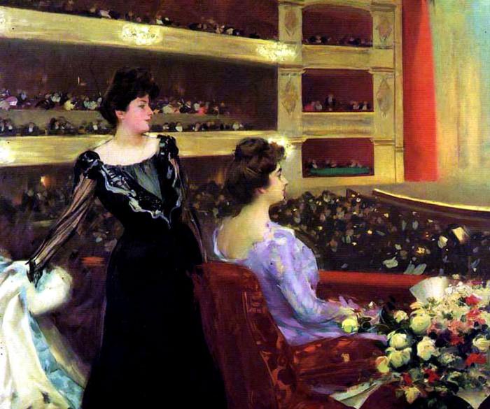 Рамон Касас Карбо. «В оперном театре Лисео» / Фото: www.artchive.ru