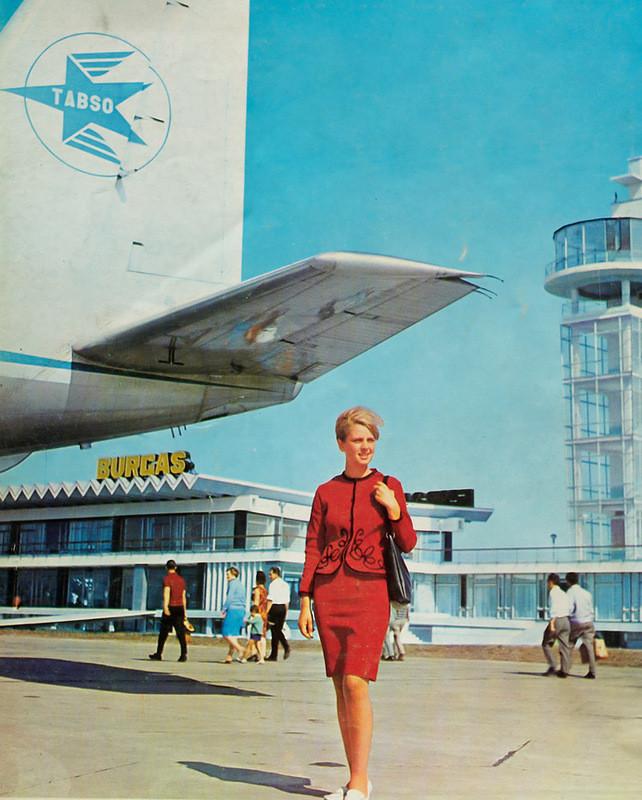 1960е, стюардеса на летище Бургас: СССР, болгария, быт, история, это интересно