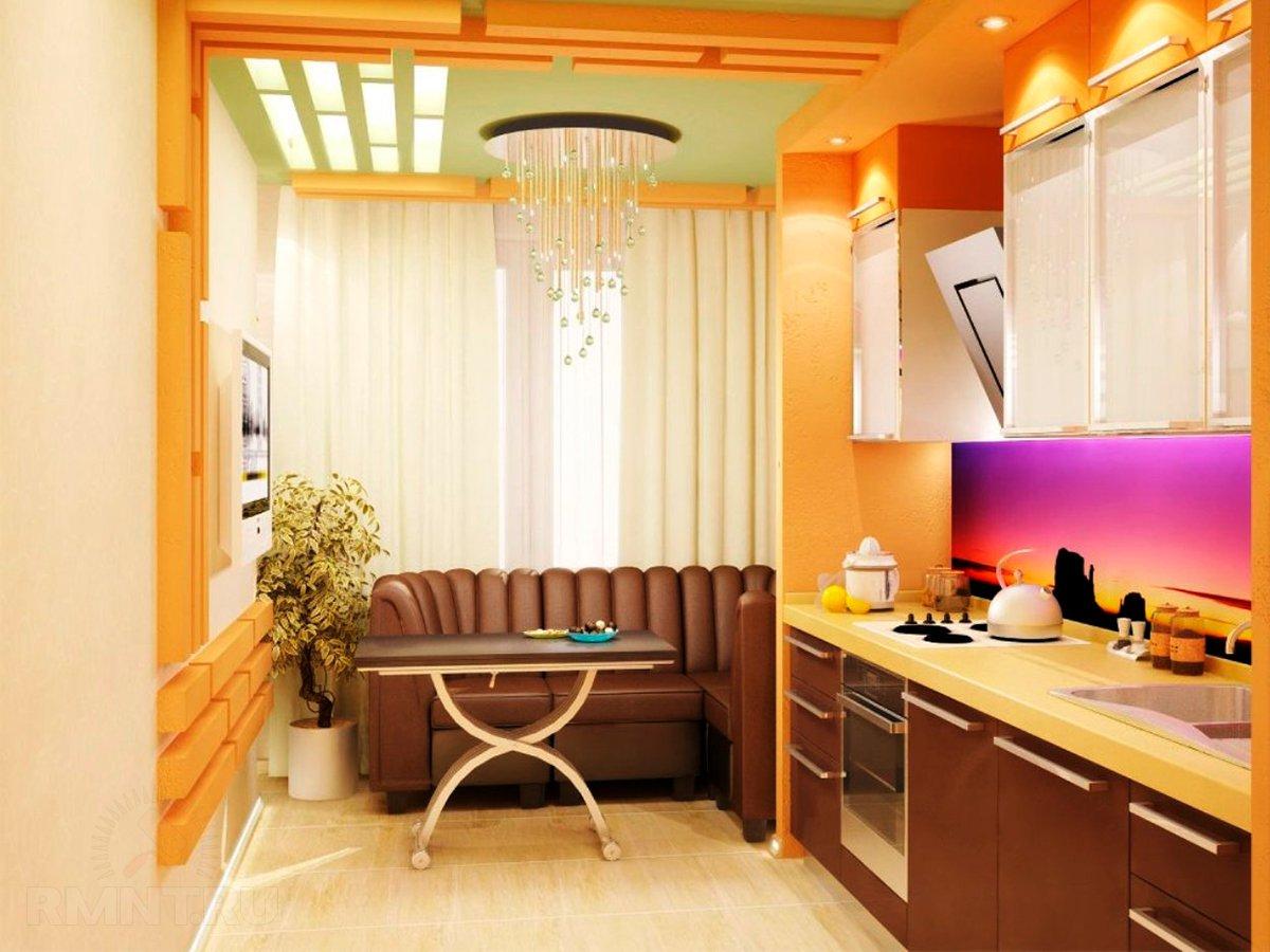 Картинки кухонь объединенных с лоджией