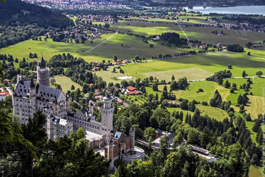 Романтический замок баварского короля Людвига