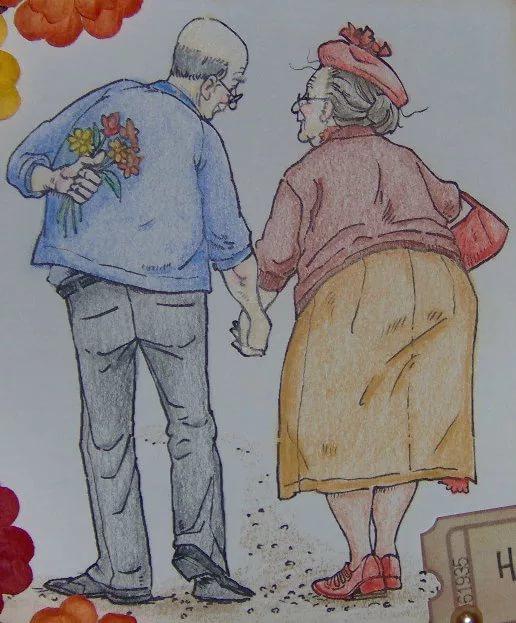 Рисунки стариков прикольные