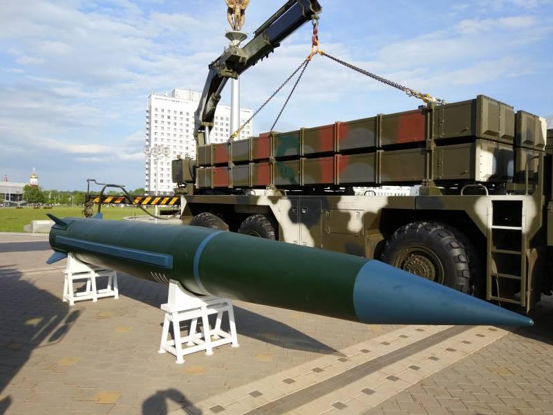 В Минске продемонстрирована новая оперативно-тактическая ракета