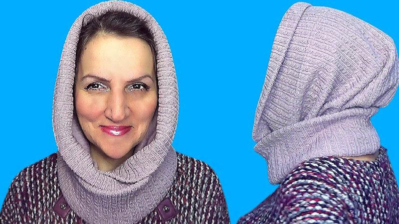Шапка-капюшон, которая спасёт от холодов