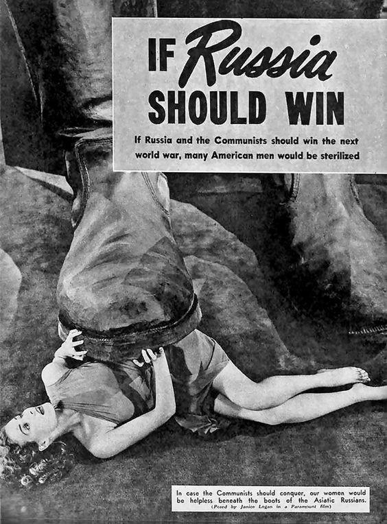 «Если Россия одержит победу!» – американский плакат времен Холодной войны. было, история, фото